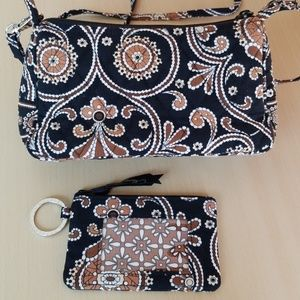 NWOT Small Vera Bradley crossbody and ID wallet